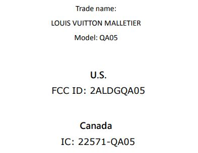 Louis Vuitton QA05 FCC 1