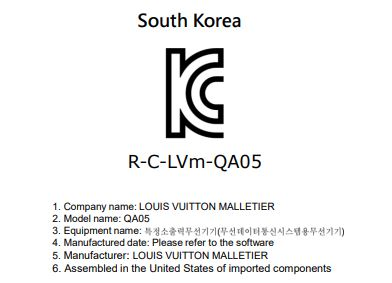 Louis Vuitton QA05 FCC 2