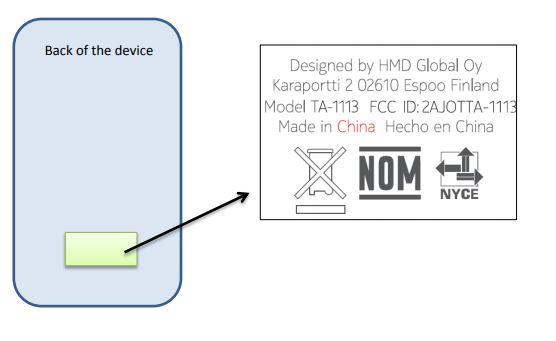 Nokia 7dot1 Plus FCC Label