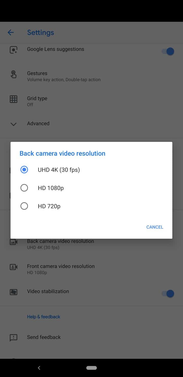 Pixel 3 review screenshots camera resolution