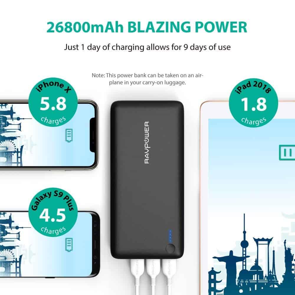 RAVPower 26800mAh power bank 9