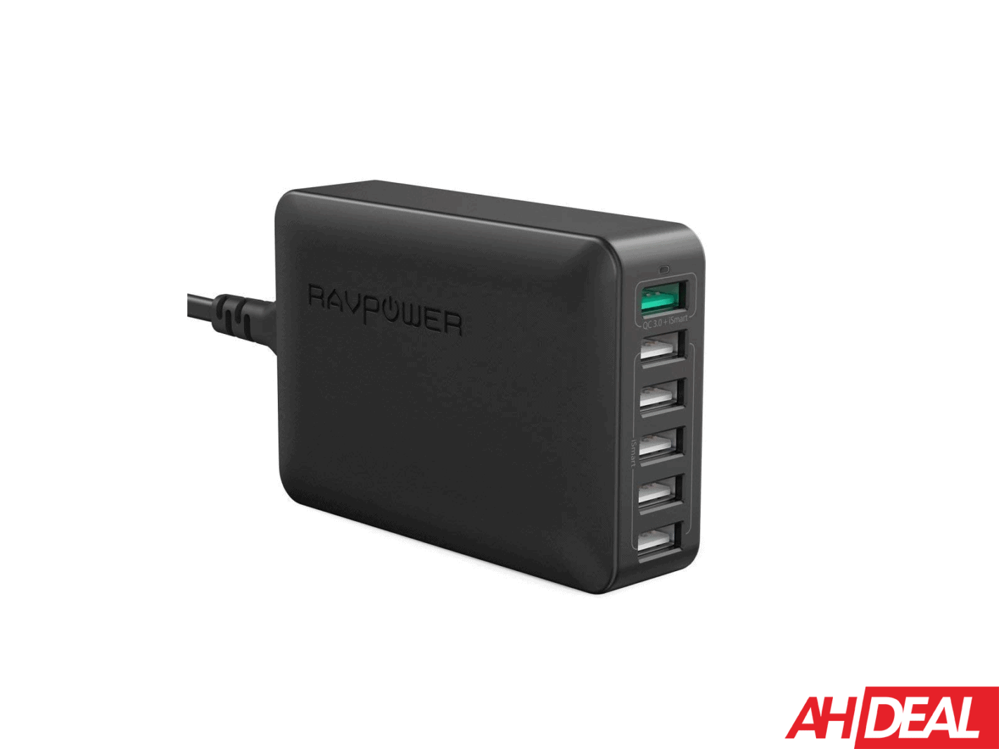 RAVPower 60W 6 Port Charging Station Deal NEW AH
