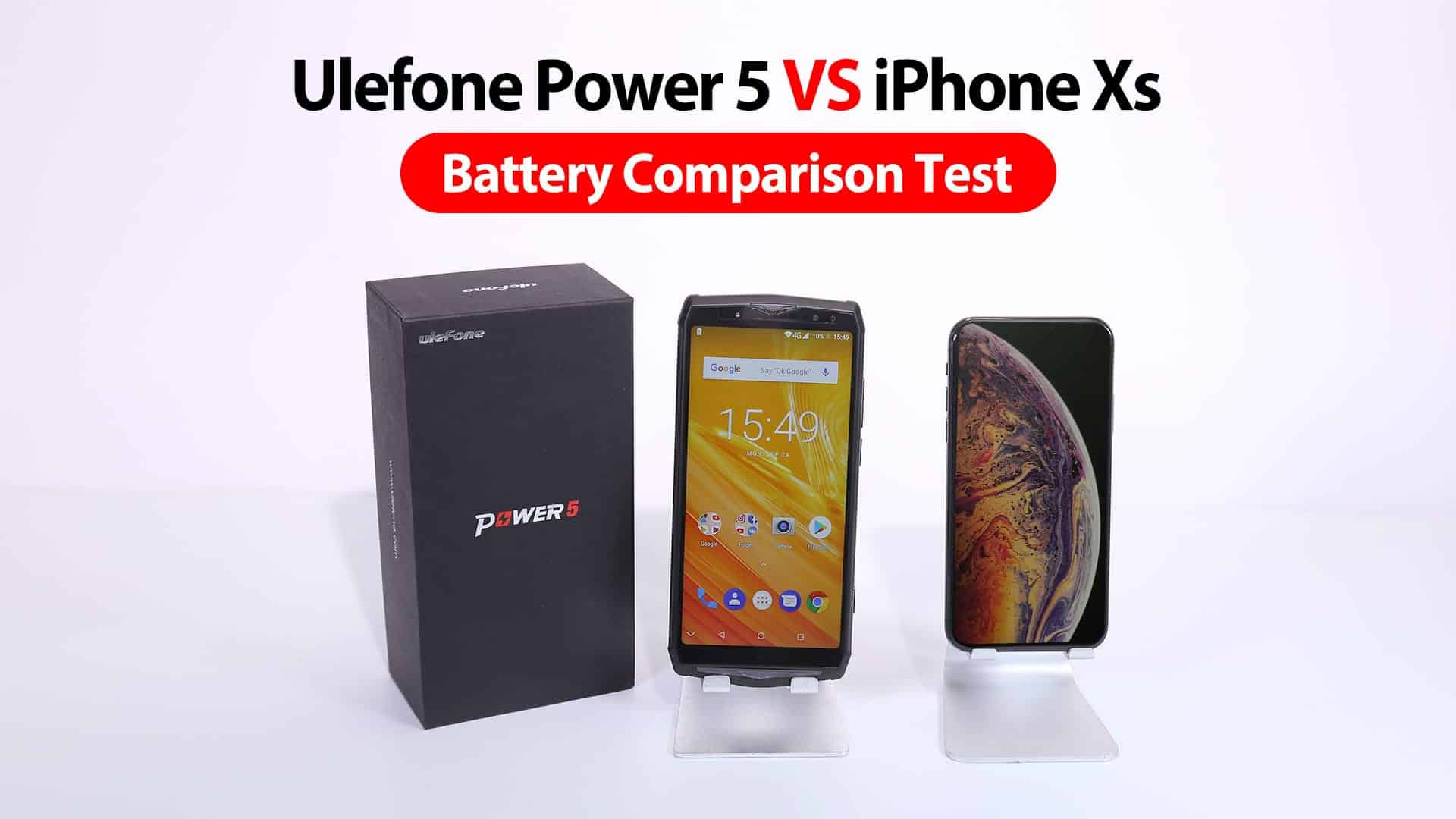 Ulefone Power 5 vs iPhone XS battery 1