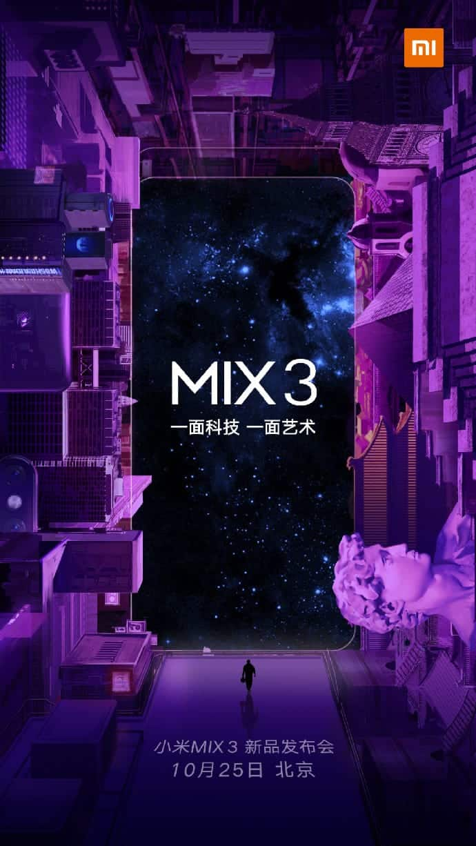 Xiaomi Mi MIX 3 launch date confirmation 1
