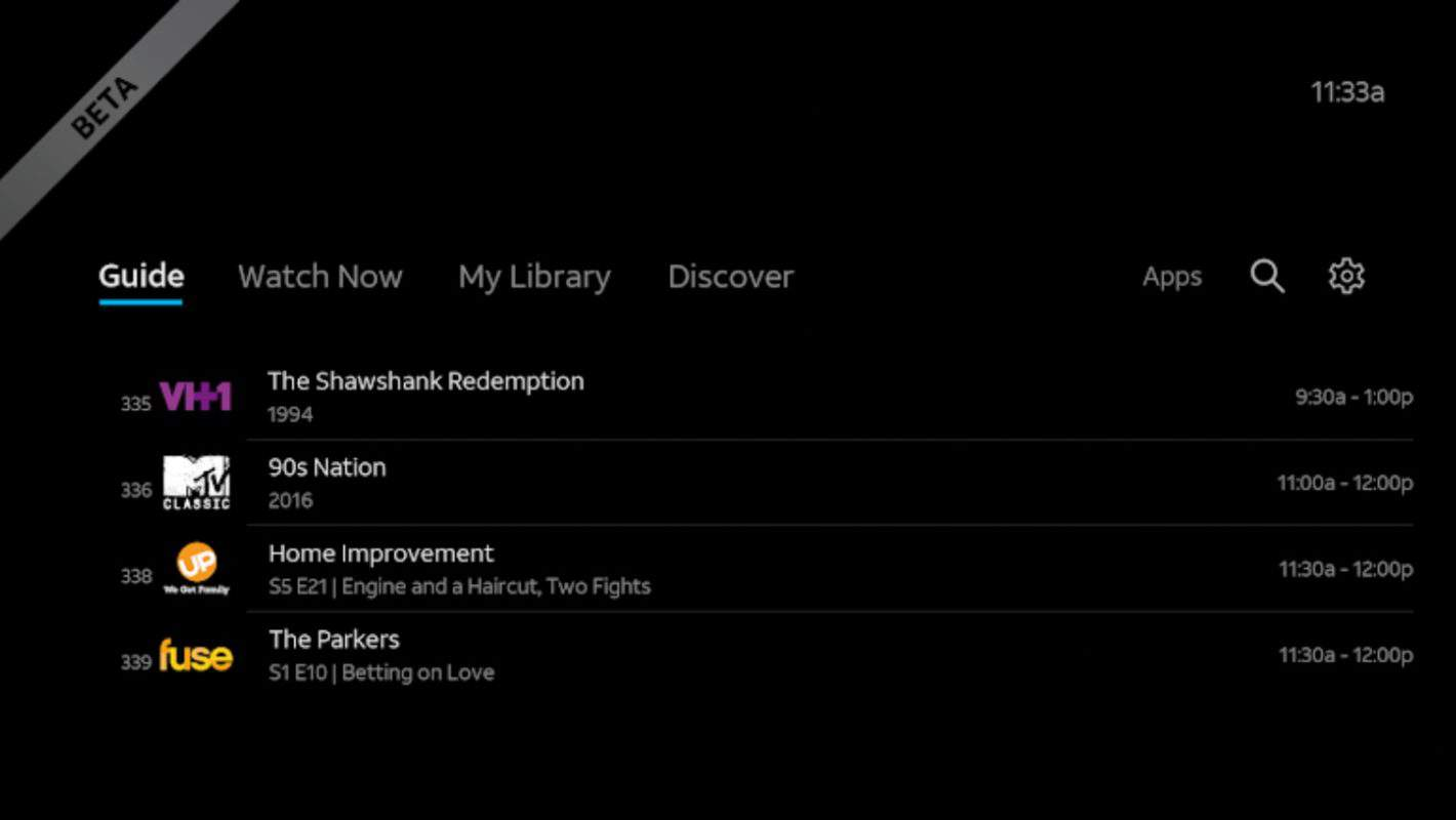 DIRECTV NOW Box Beta Interface Main 01