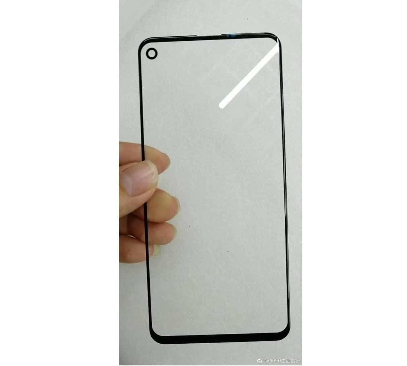 Galaxy A8s screen protector leak 1