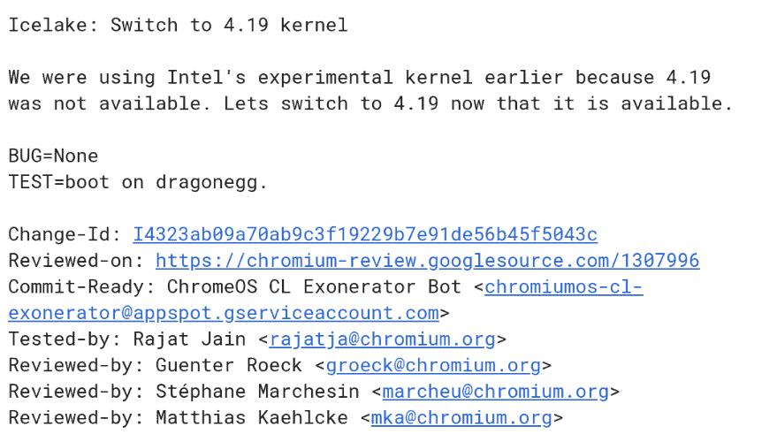 Ice Lake Kernel Switch Dragonegg from Chromium Gerrit