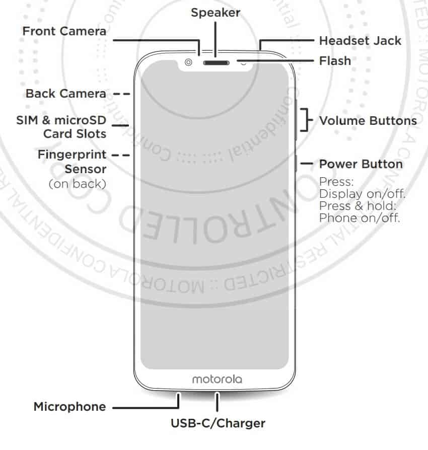 Moto G7 Play FCC manual