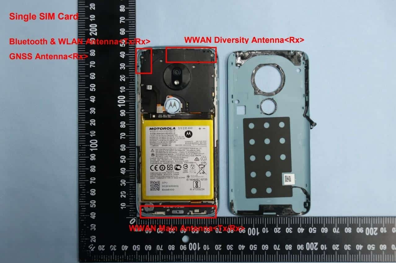 Moto G7 Play FCC with internals