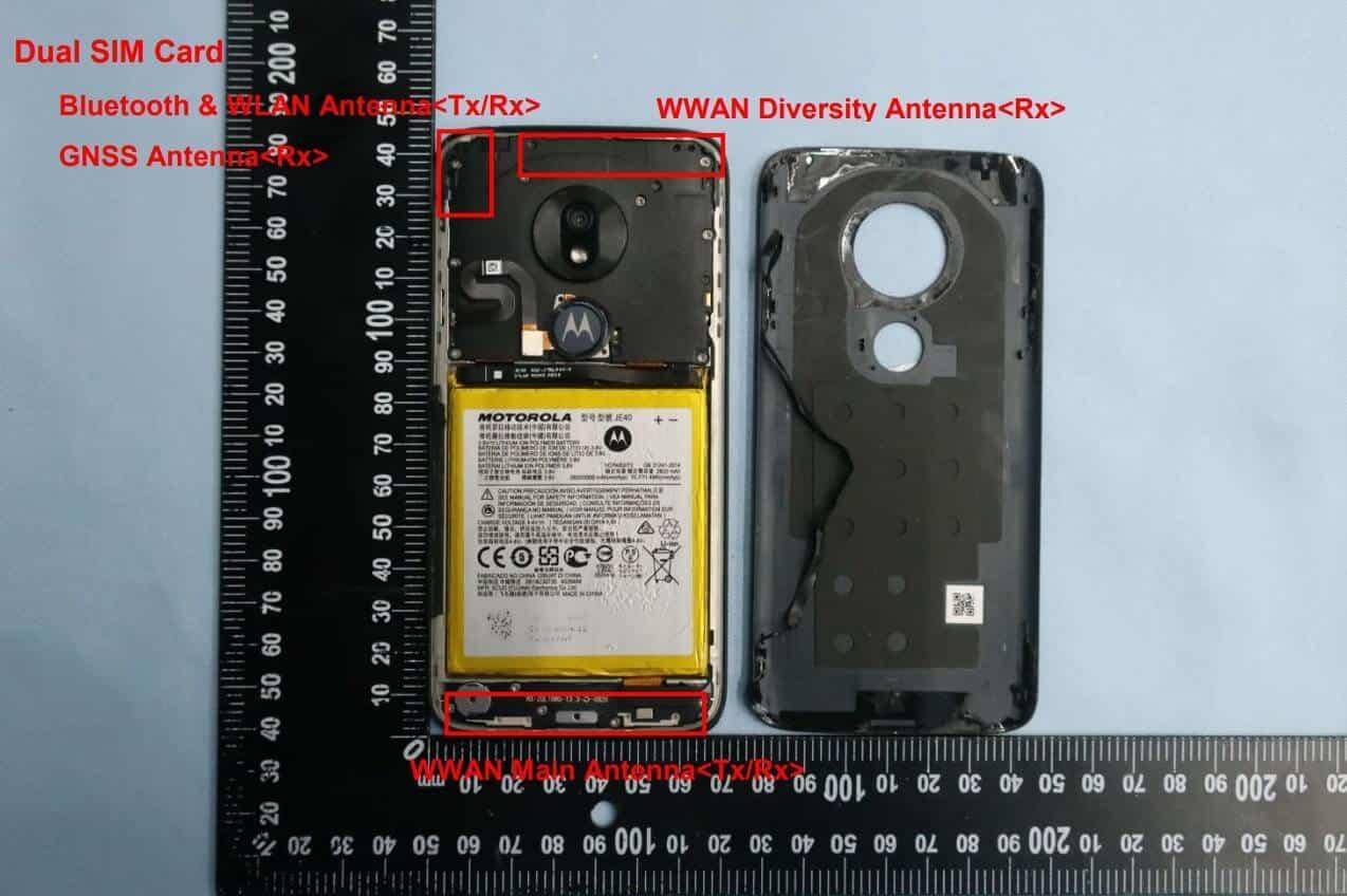 Moto G7 Play FCC with internals15dualSIM