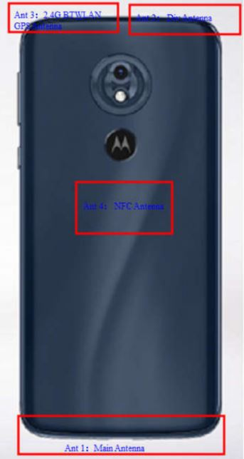 Moto G7 Power FCC Antenna Locations And Rear Panel