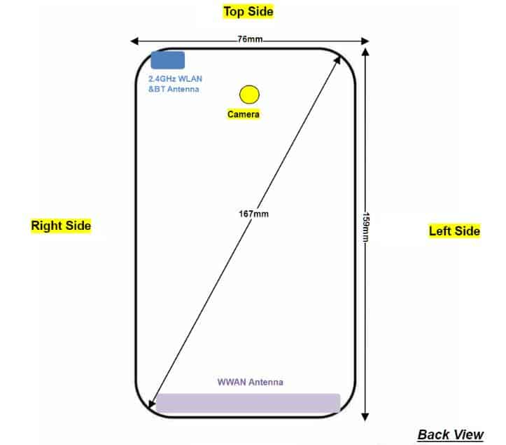 Moto G7 Power FCC Dimensions