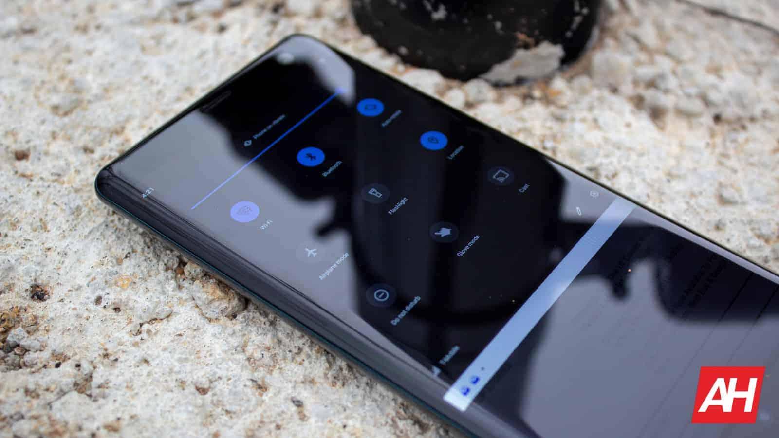 Sony Xperia XZ3 AH NS 21 quick toggles