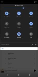 Sony Xperia XZ3 AH NS UI quick toggles