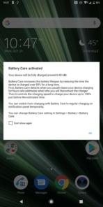 Sony Xperia XZ3 AH NS battery care