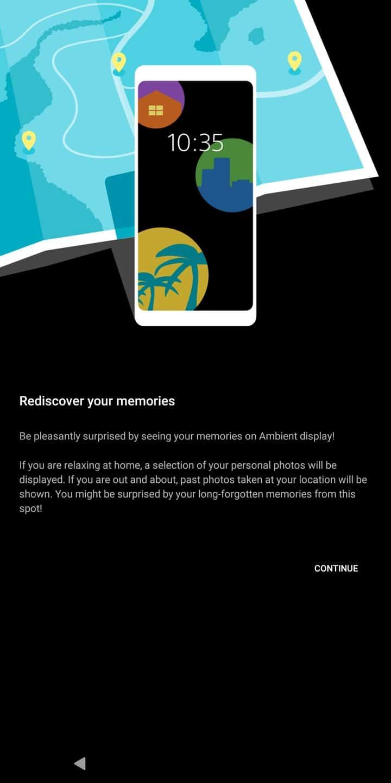Sony Xperia XZ3 AH NS display photos 2