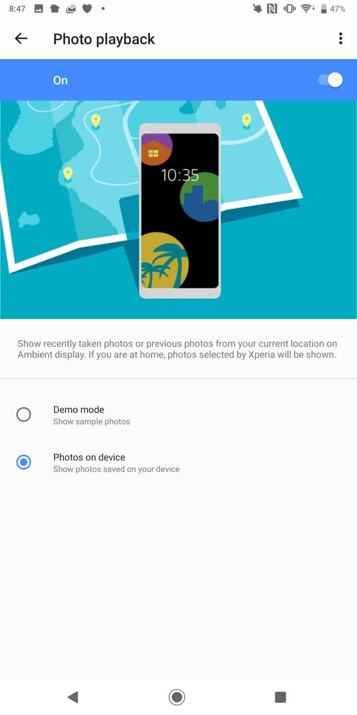 Sony Xperia XZ3 AH NS display photos