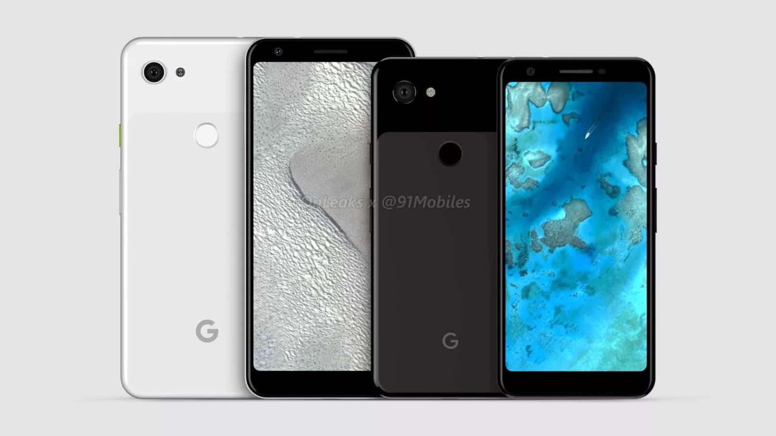 Google Pixel 3 Lite Pixel 3 Lite XL renders leak 1