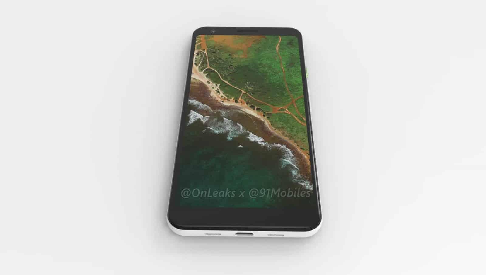 Google Pixel 3 Lite XL render leak 2