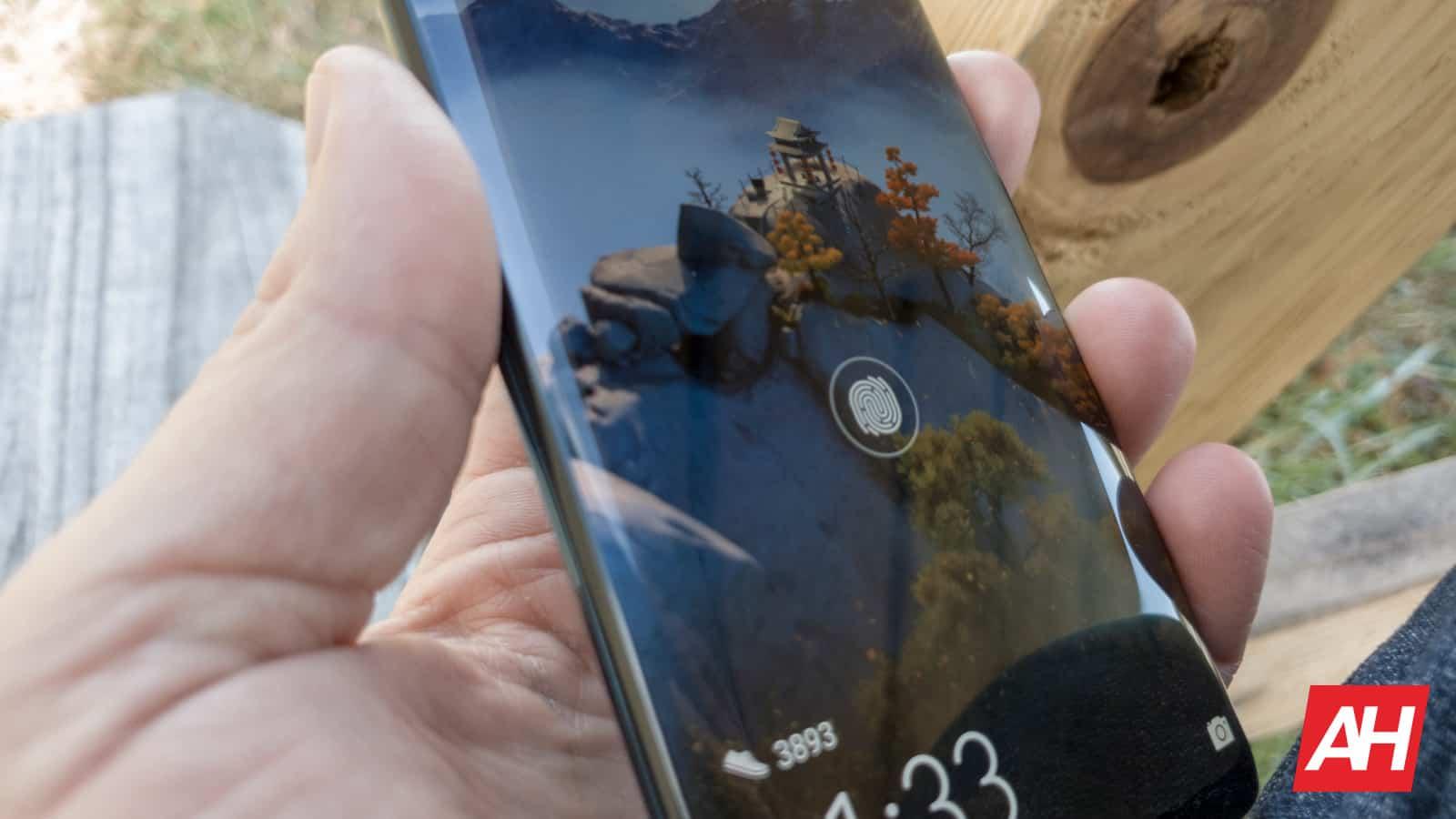 Huawei Mate 20 Pro AH NS 22 in glass fingerprint scanner