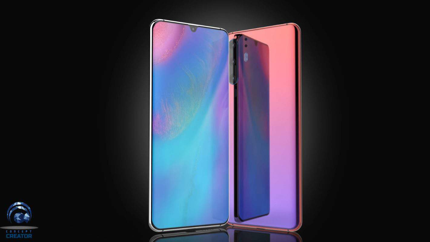 Huawei P30 concept design based on leaks 1