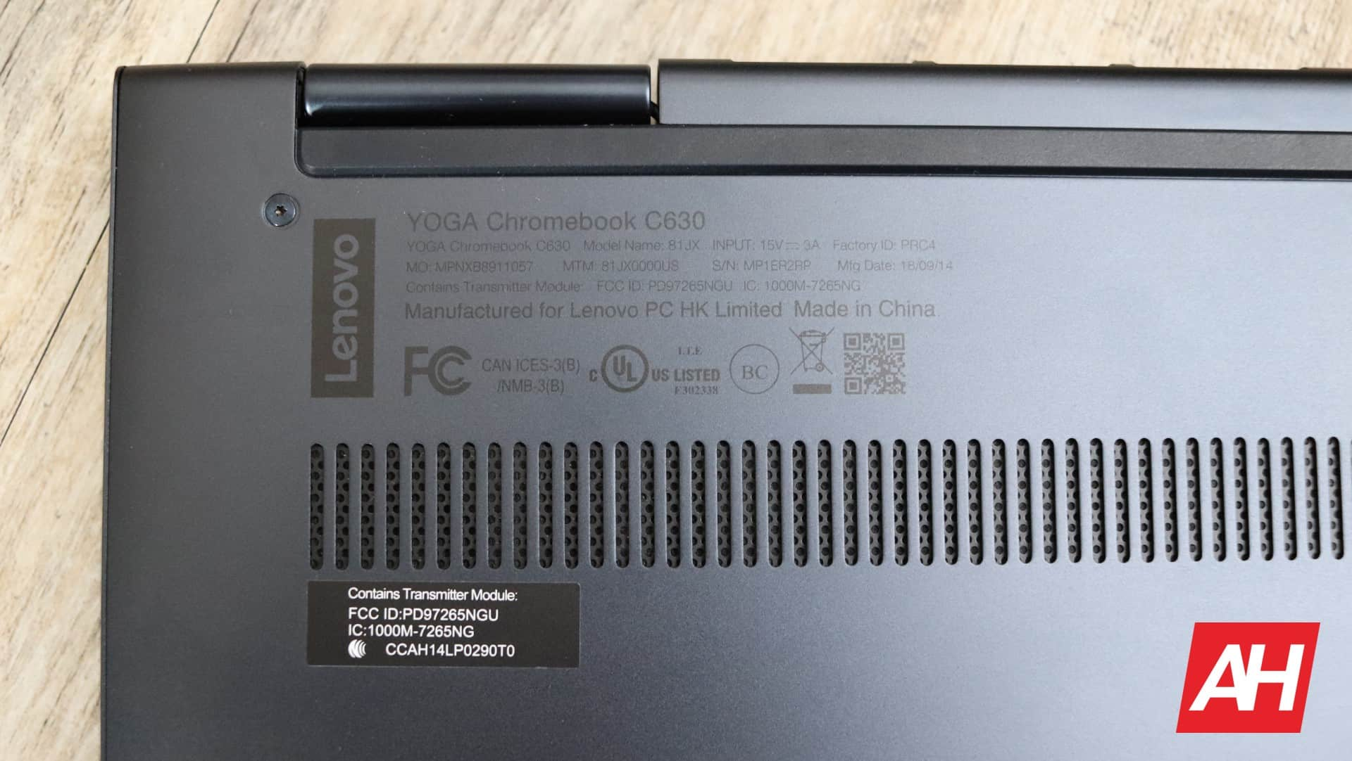 Lenovo Yoga Chromebook C630 Review Hardware AH 18