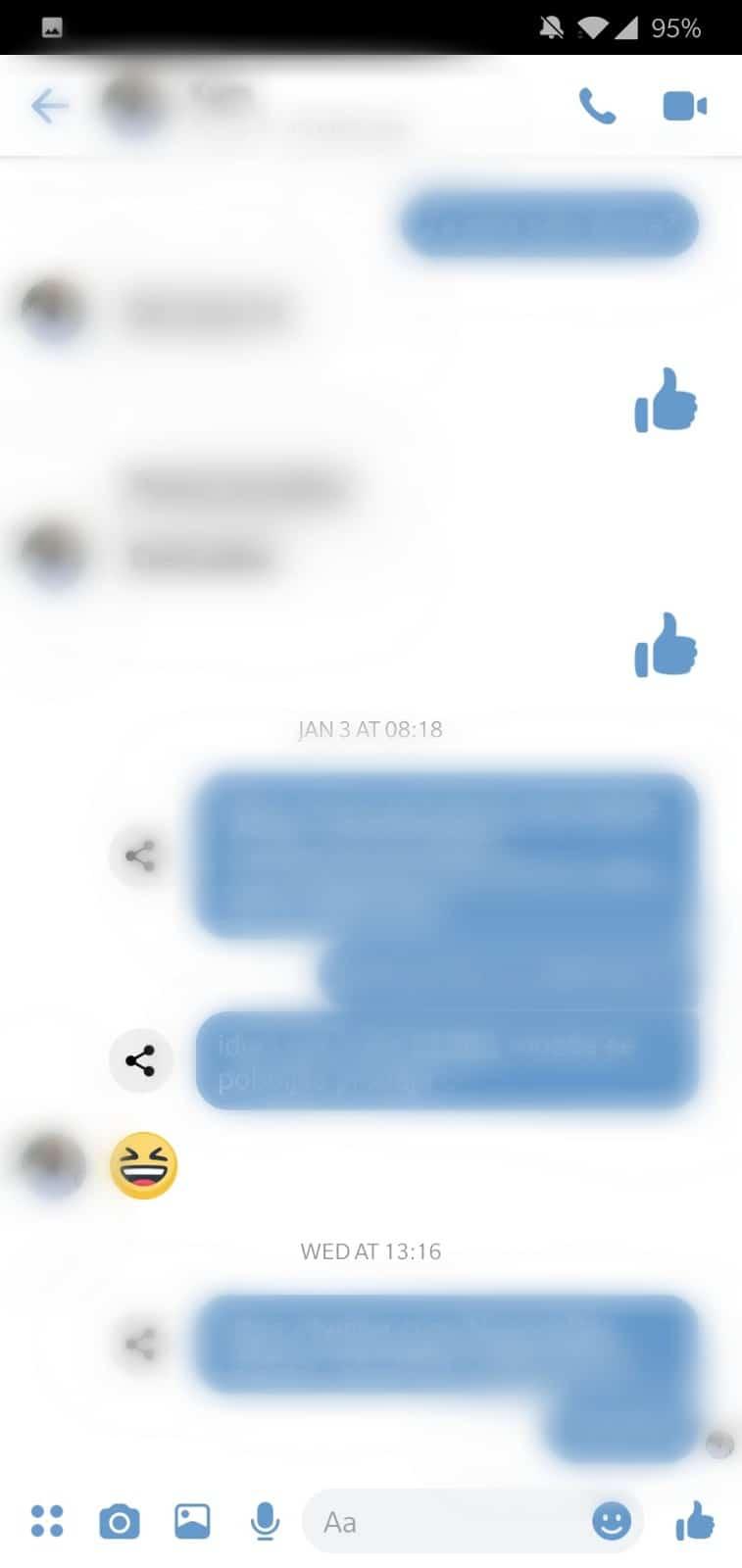 Facebook Messenger v4 redesign 1