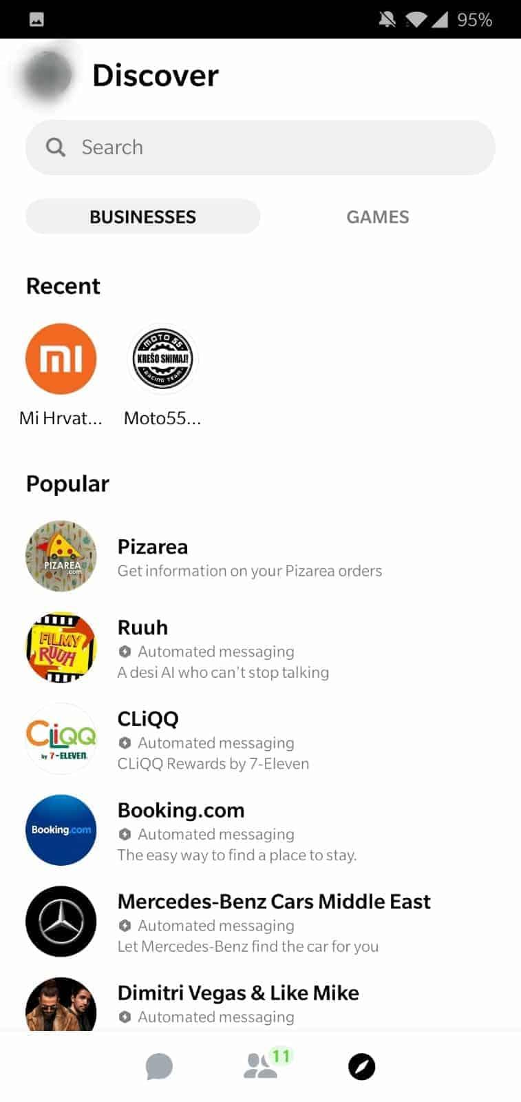 Facebook Messenger v4 redesign 3