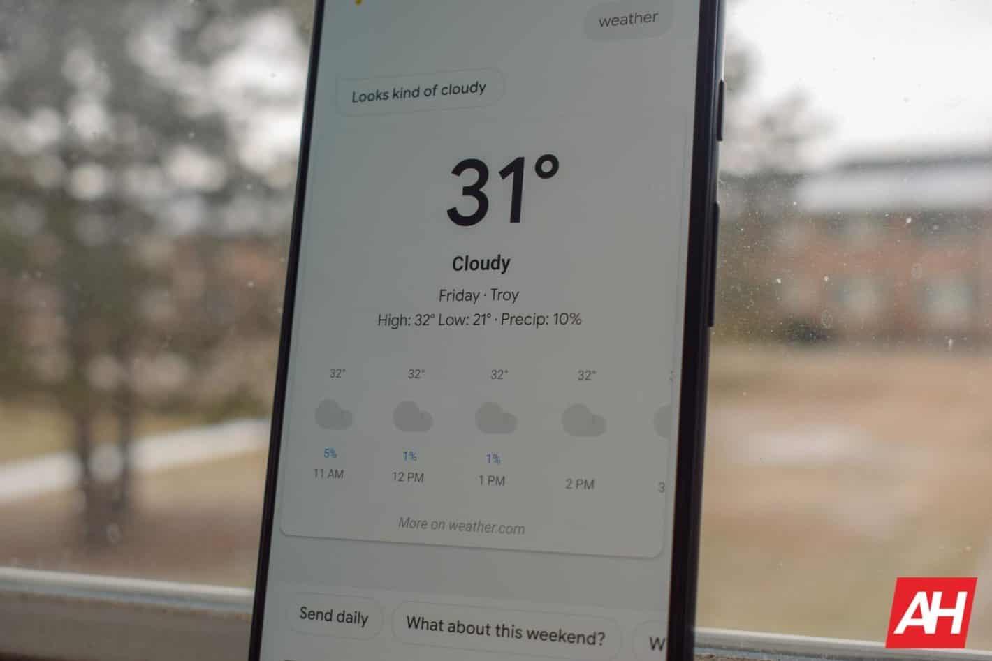 Google Assistant Weather AM AH 1