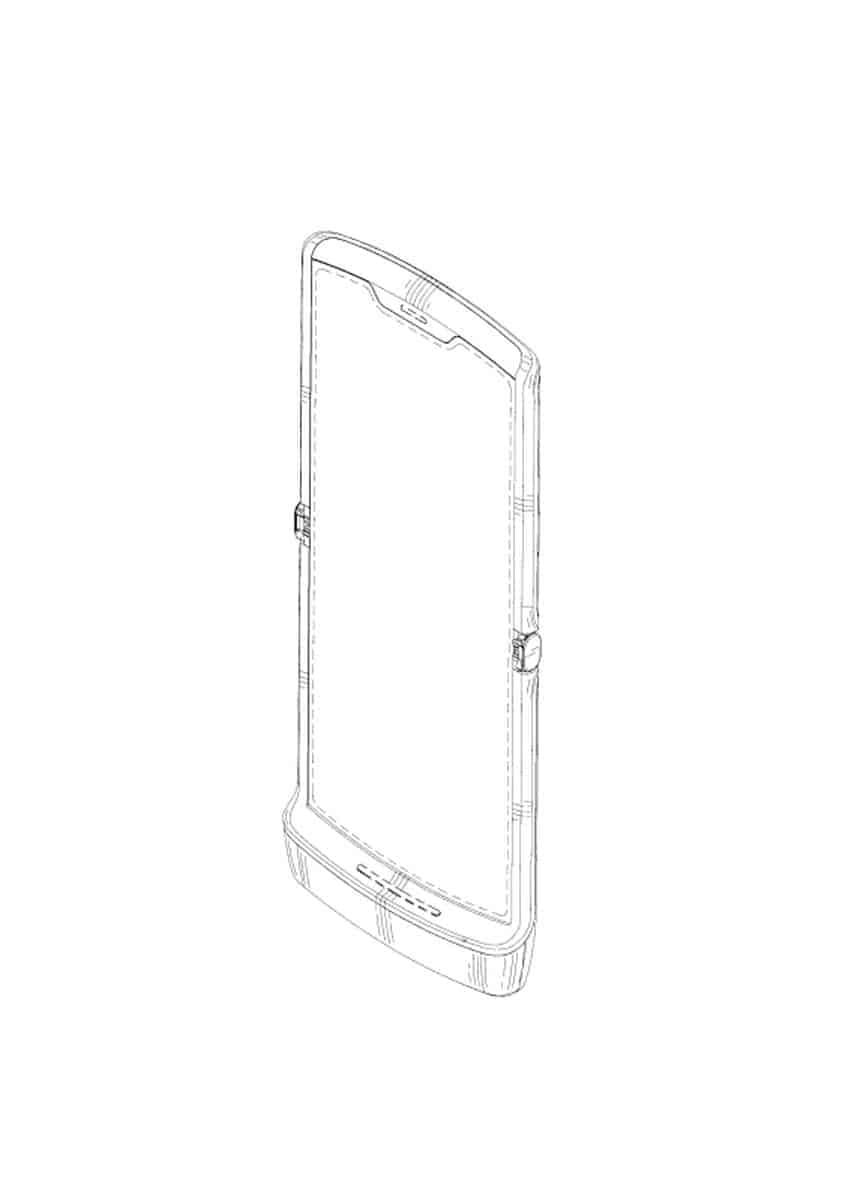 Motorola Razr foldable smartphone patent 1
