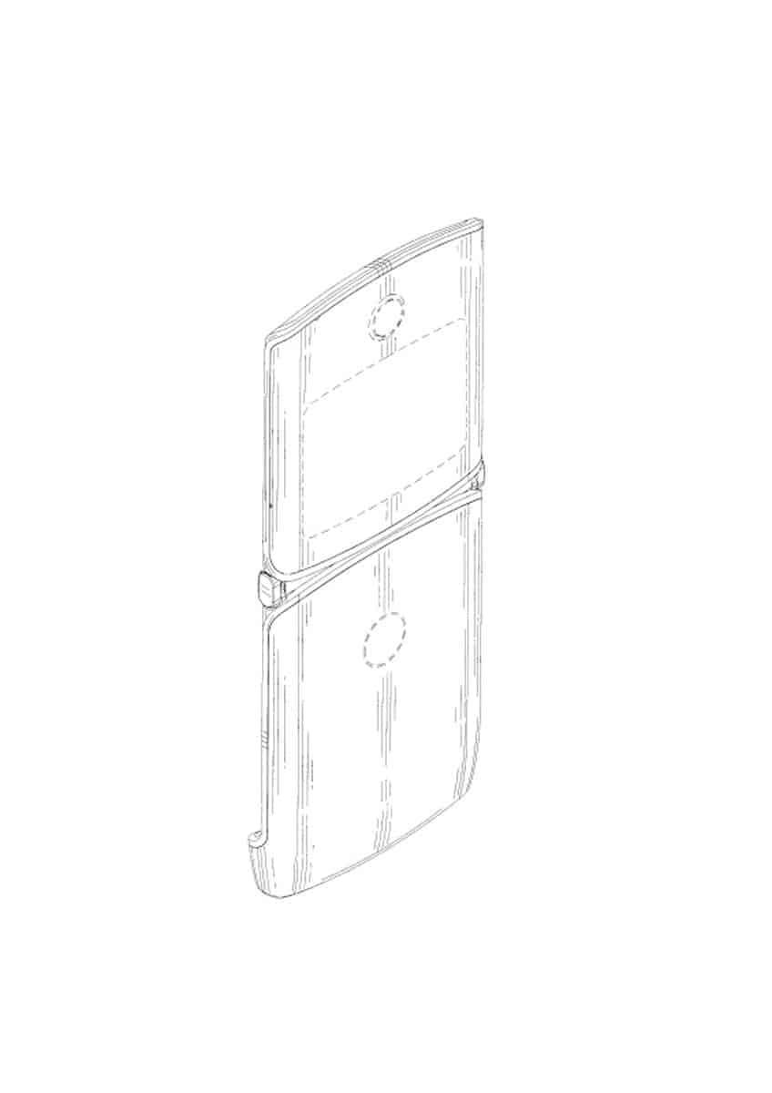 Motorola Razr foldable smartphone patent 2