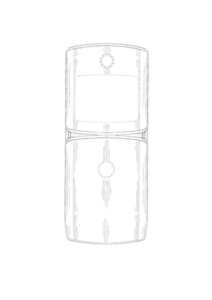 Motorola Razr foldable smartphone patent 4
