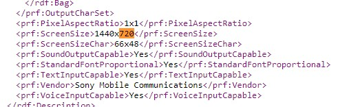 Sony Xperia L3 UAProf 1