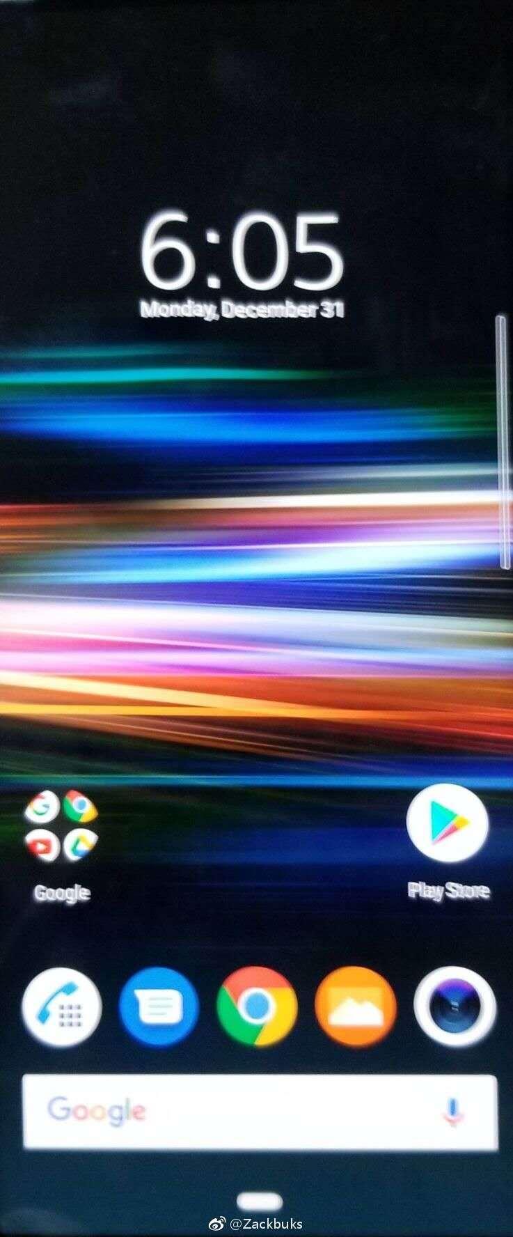 Sony Xperia XZ4 homescreen leak 1