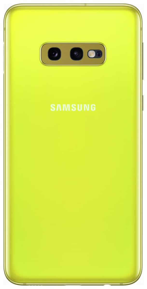 Canary Yellow Galaxy S10e render 22