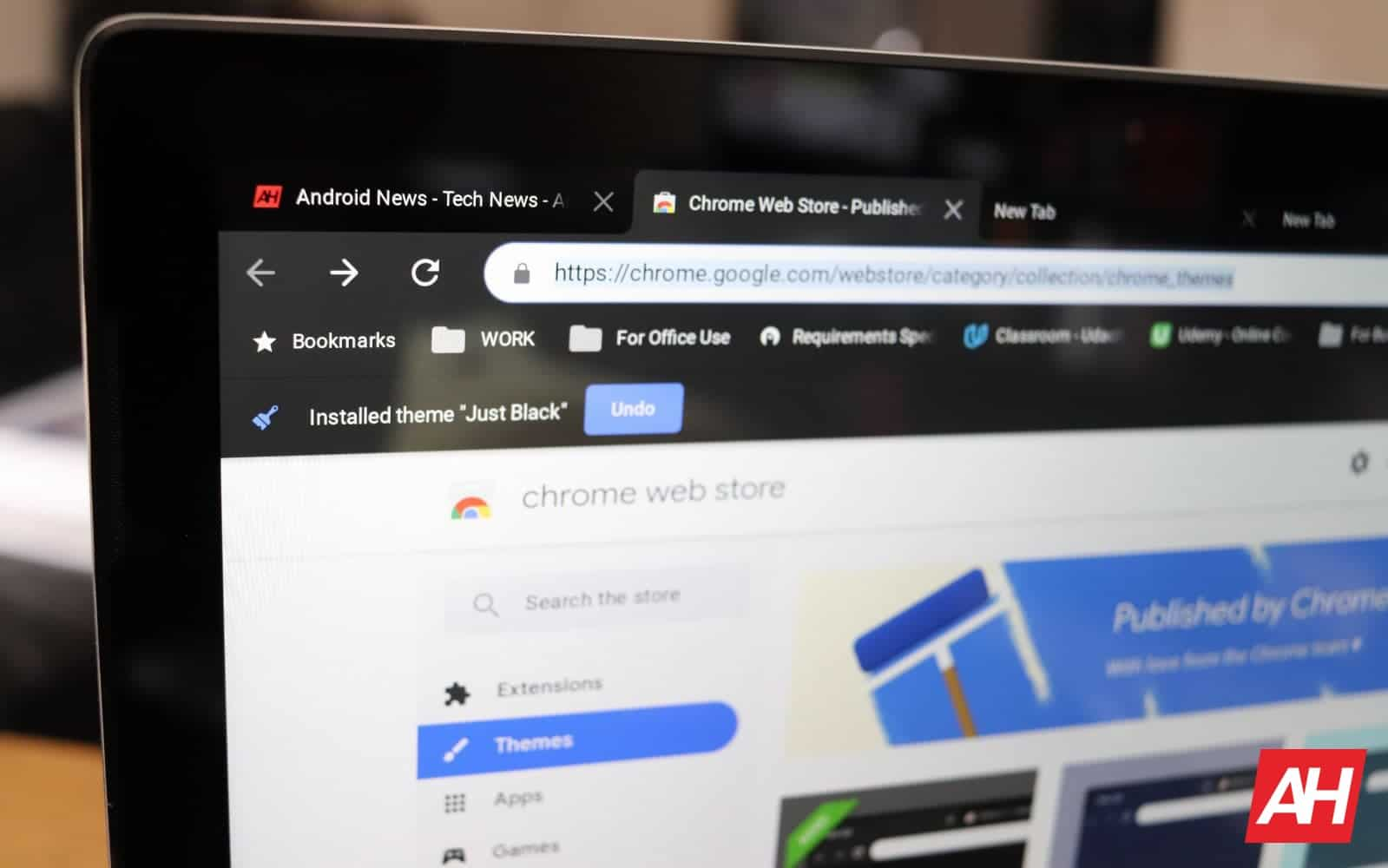 Chrome Themes Just Black AH 2019
