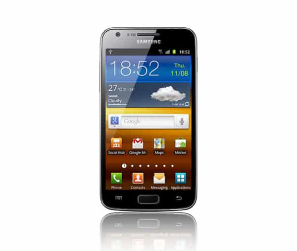 Galaxy S2 official render with wallpaper 1