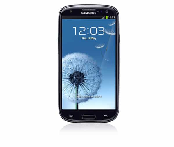 Galaxy S3 official render with wallpaper 1