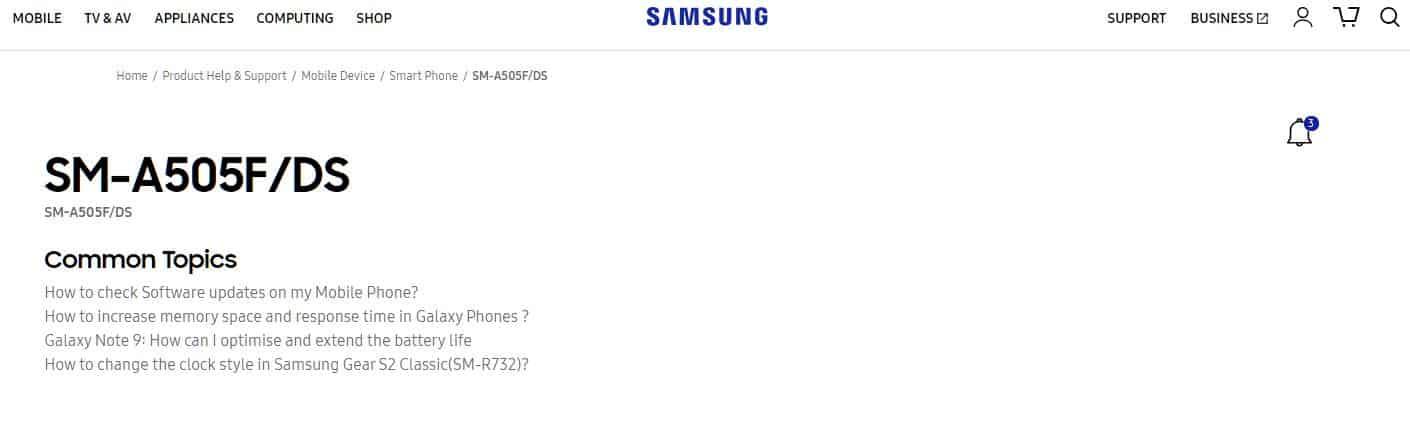 Samsung Galaxy A50 Manual Leak 4