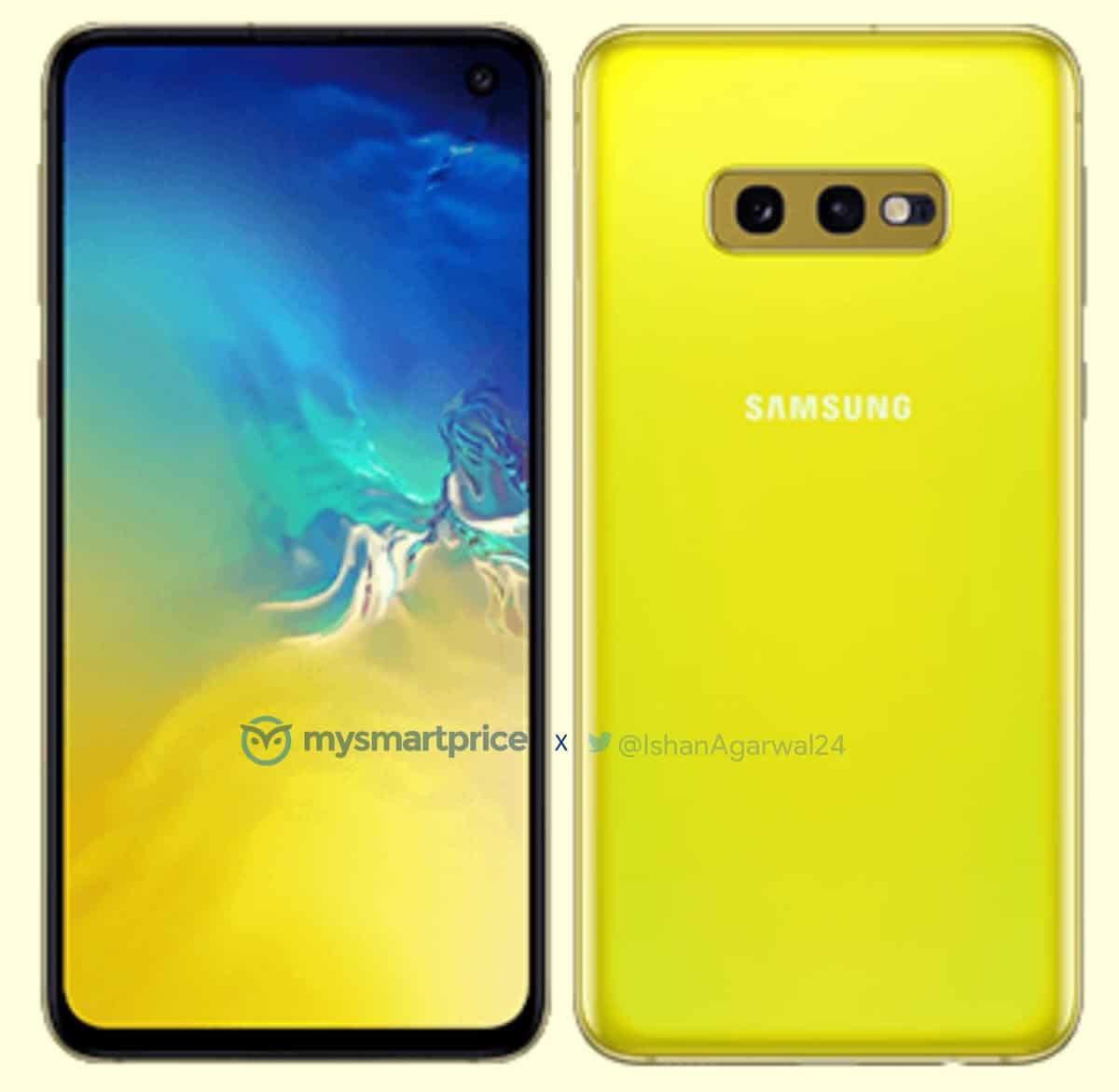 Samsung Galaxy S10e Canary White render leak 1
