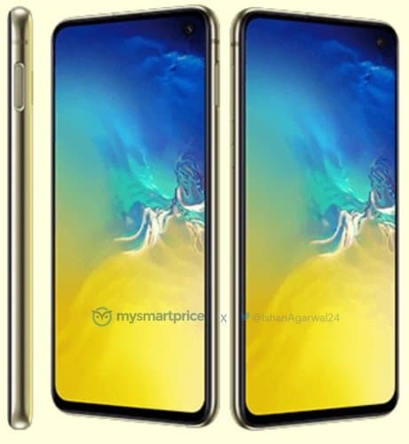 Samsung Galaxy S10e Canary White render leak 2