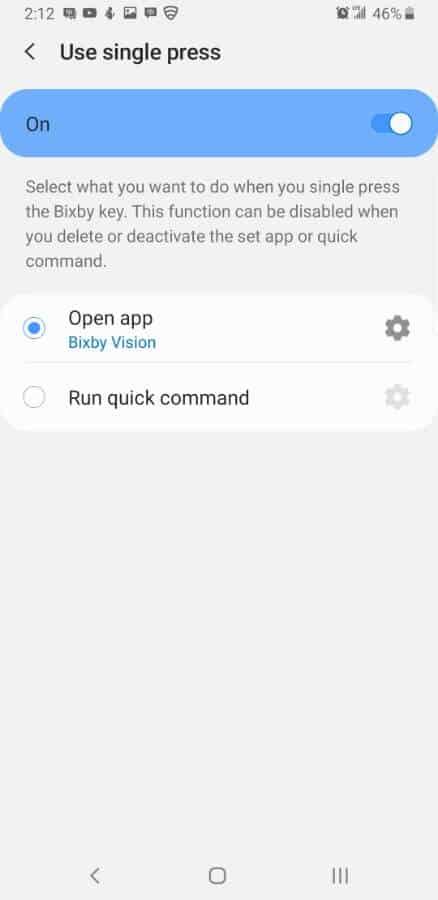 Samsung Screencap Bixby Custom Key Assigning 06