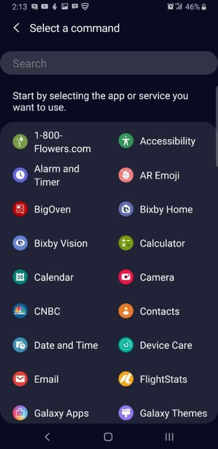 Samsung Screencap Bixby Custom Key Assigning 14