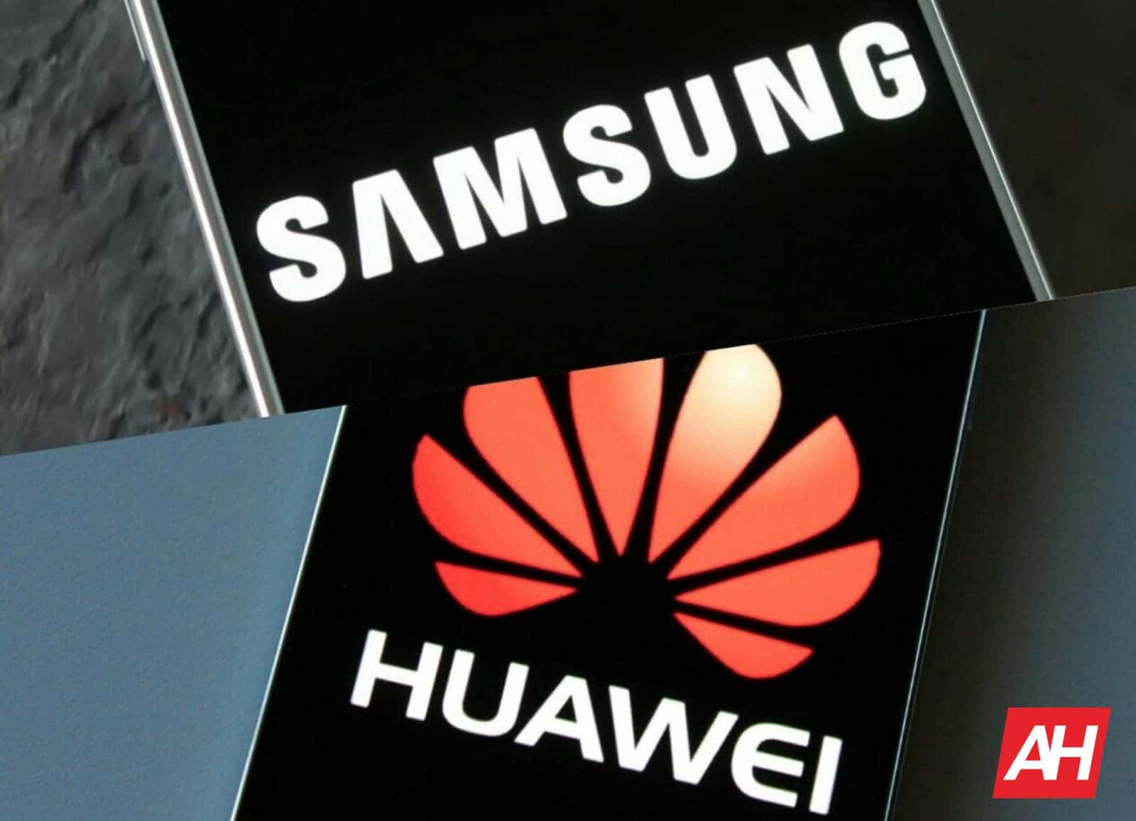 Samsung and Huawei logo AH 2019
