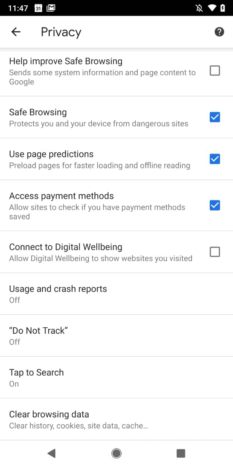 chrome android digital wellbeing setting pre launch from commits 01