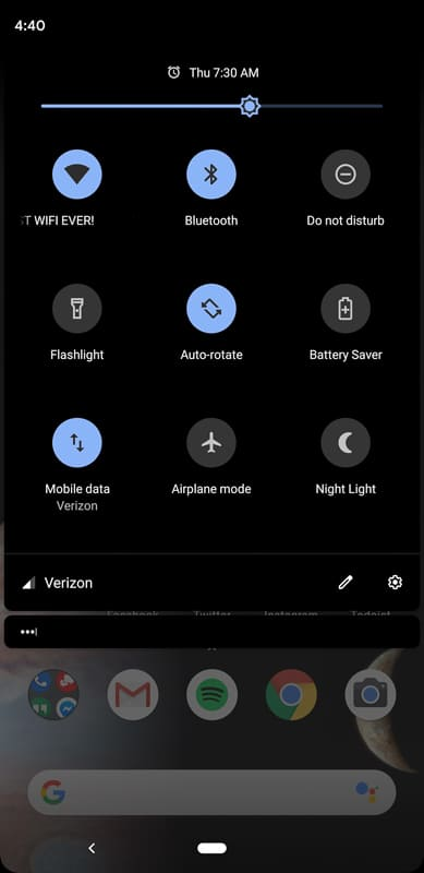 Android Q Dark Mode Screens 2