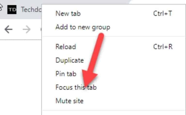 Focus this tab option from techdows