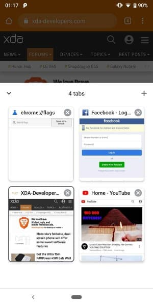 Google Chrome Bottom Toolbar Tabs 2 from XDA
