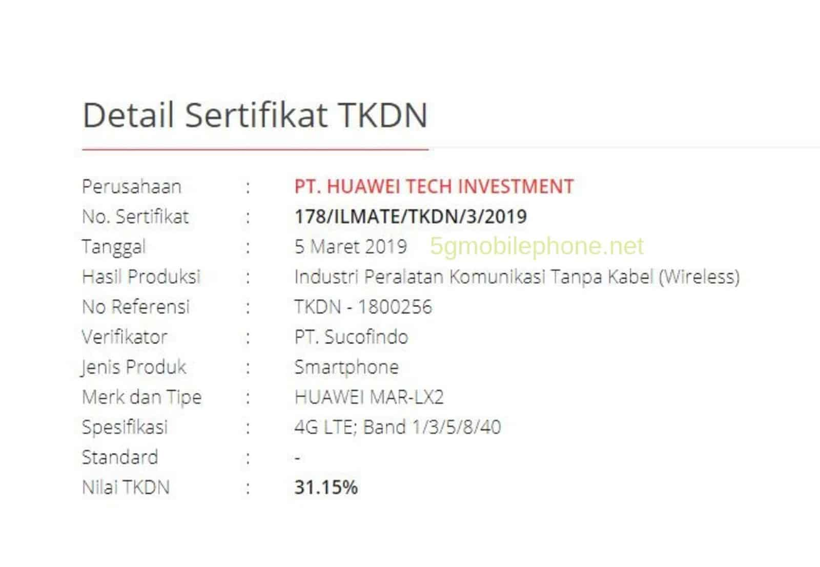 Huawei P30 Series Indonesia Aproval 3