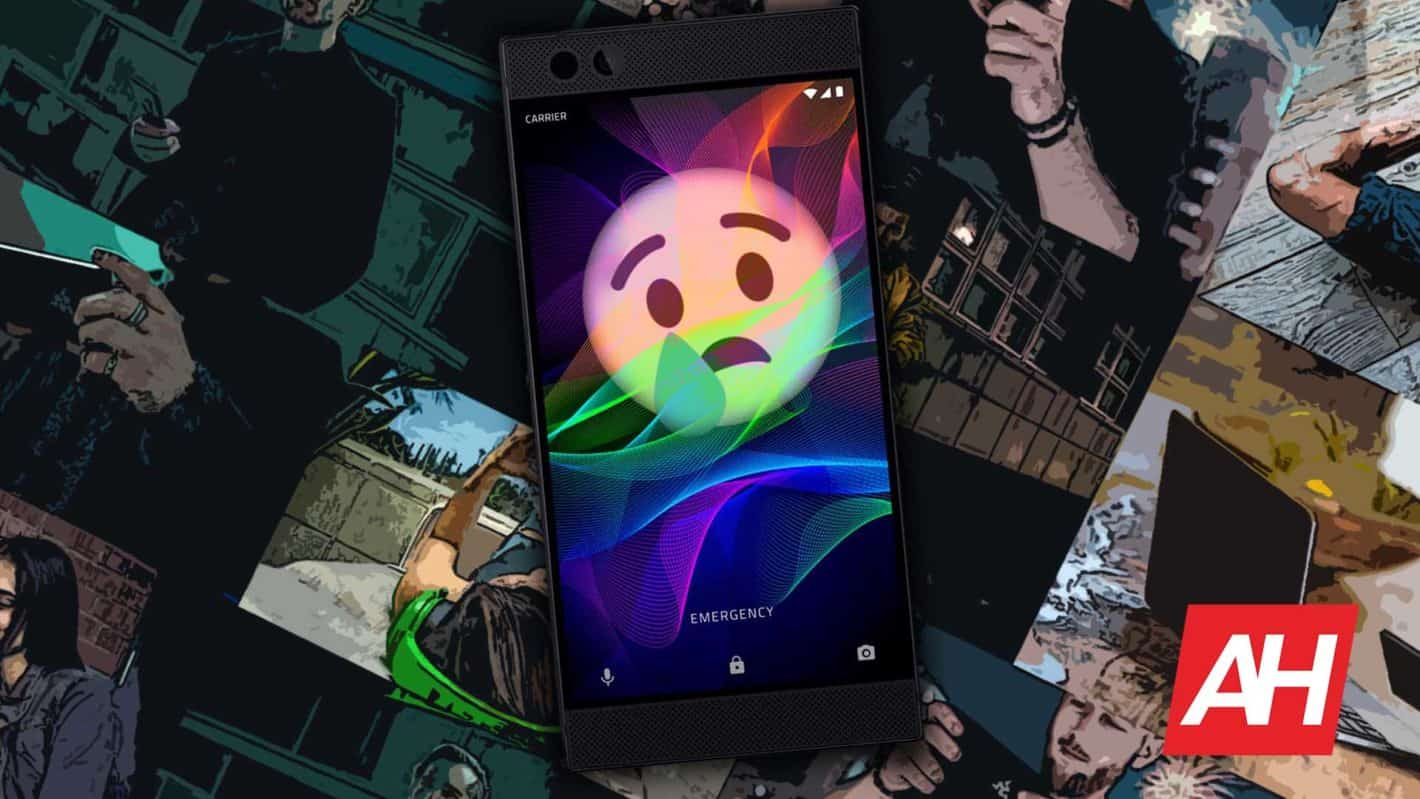 Razer Phone Sad Emoji Face Illustration AH
